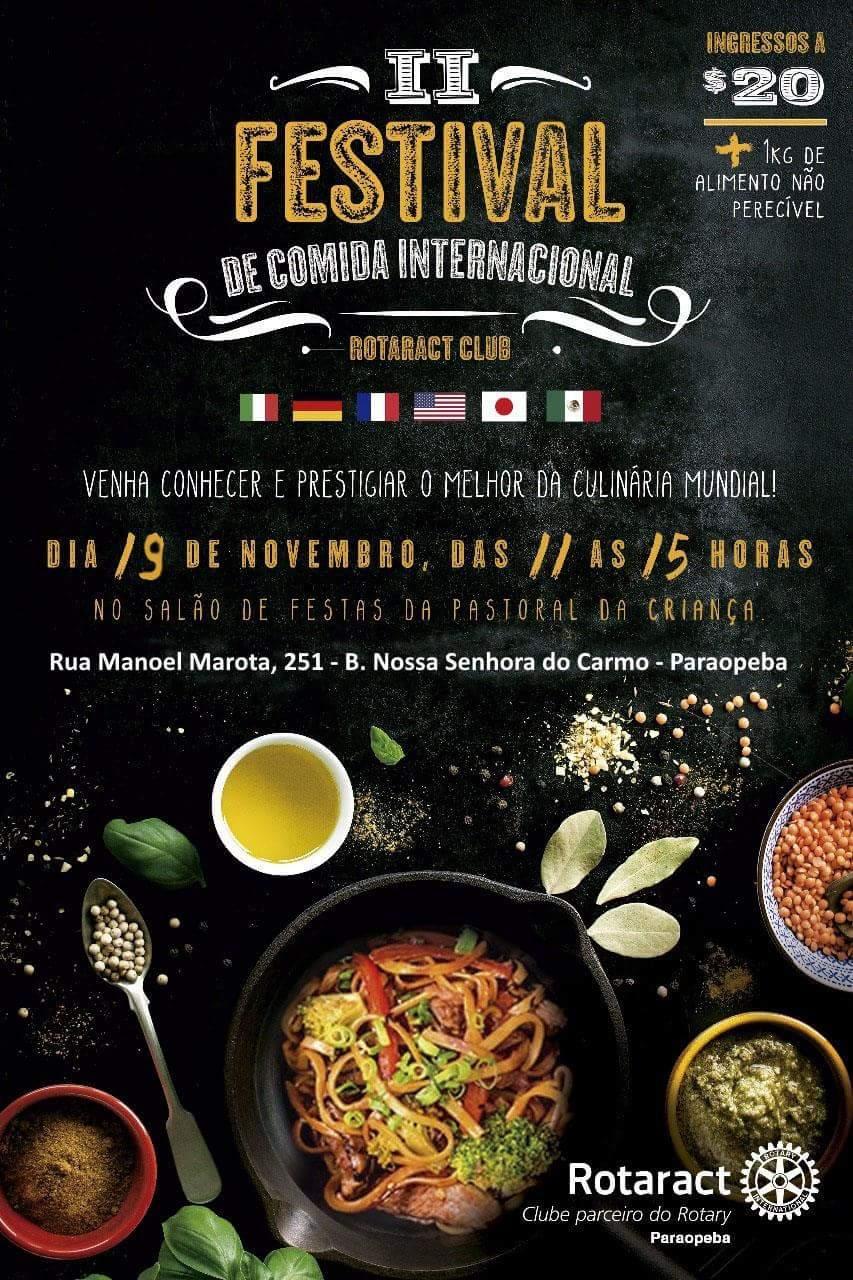 Rotaract Club de Paraopeba realiza II Festival de Comida Internacional