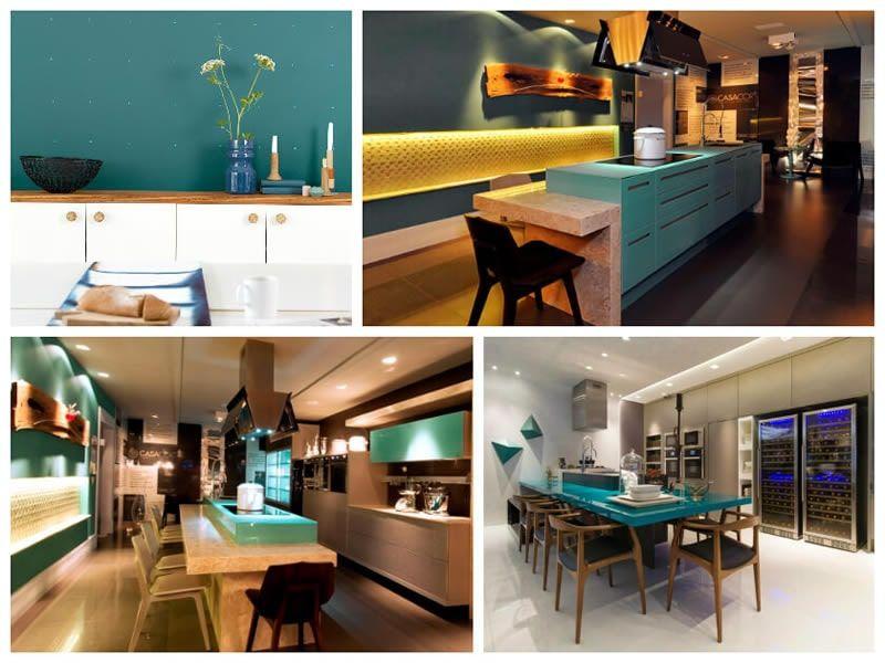 Decoração de Cozinha Azul Turquesa